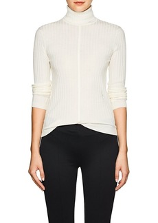 Chloé Women's Logo-Embroidered Wool Turtleneck Sweater
