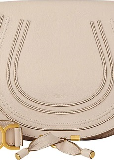 Chloé Women's Marcie Leather Crossbody Saddle Bag - White