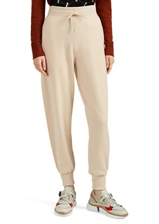 Chloé Women's Metallic-Logo-Pocket Cashmere Jogger Pants
