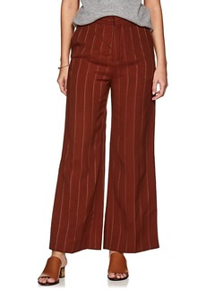 Chloé Women's Metallic-Striped Wide-Leg Trousers