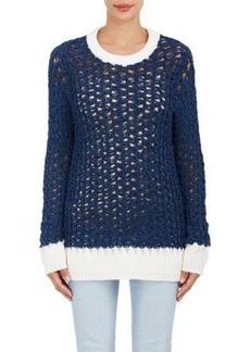 Chloé Women's Open-Knit Chenille Sweater