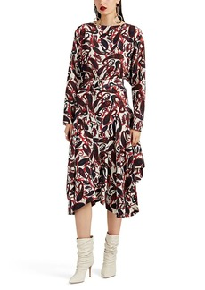 Chloé Women's Paisley Silk Belted Dress