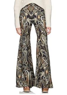 Chloé Women's Paisley Silk-Blend Flared Pants