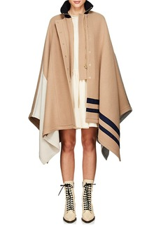 Chloé Women's Patchwork Wool-Blend Melton Cape