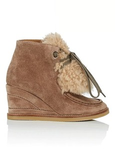 Chloé Women's Perry Suede Wedge Boots