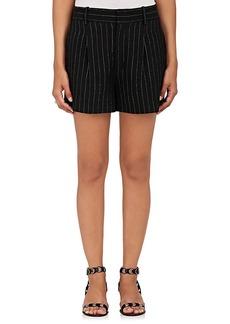 Chloé Women's Pinstriped Silk-Blend Shorts