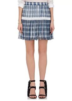 Chloé Women's Plaid Silk Georgette Miniskirt