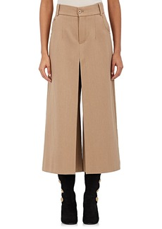 Chloé Women's Pleated Wool-Cotton Twill Culottes