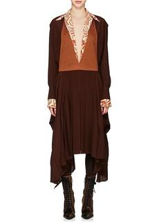 Chloé Women's Ponte & Crêpe De Chine Asymmetric Dress