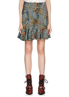 Chloé Women's Python-Print Jersey Miniskirt