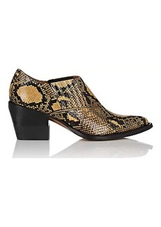 Chloé Women's Python-Print Leather Ankle Boots
