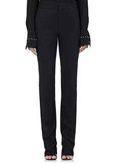 Chloé Women's Rhinestine-Embellished Cady Trousers