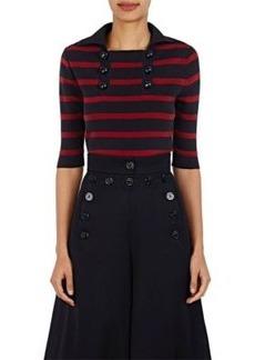 Chloé Women's Rib-Knit Sailor Polo Shirt