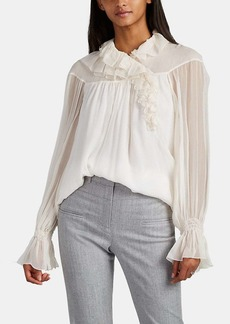 Chloé Women's Ruffled Silk Blouse