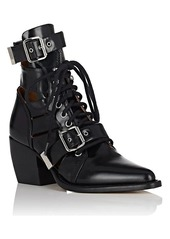 Chloé Women's Rylee Double Buckle Leather Ankle Boots