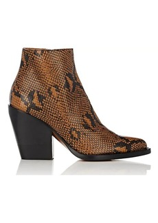 Chloé Women's Rylee Stamped Leather Ankle Boots