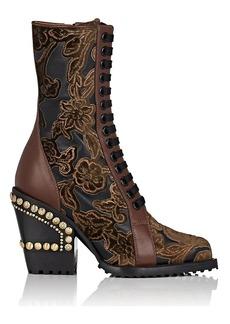 Chloé Women's Rylee Velvet & Leather Ankle Boots
