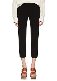 Chloé Women's Satin-Back Crepe Crop Trousers