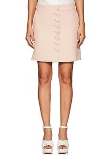 Chloé Women's Scalloped-Front Crepe Miniskirt