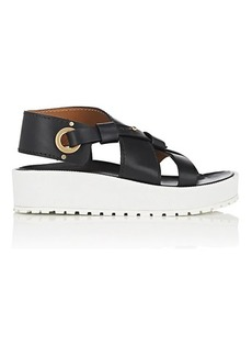 Chloé Women's Scottie Leather Platform-Wedge Sandals