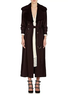 Chloé Women's Shearling-Collar Trench Coat