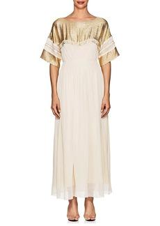 Chloé Women's Silk-Blend Crepe Maxi Dress