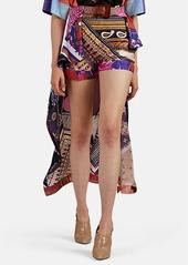Chloé Women's Skirt-Overlay Paisley Silk Shorts