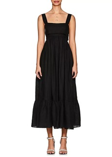 Chloé Women's Slub Linen Midi-Dress