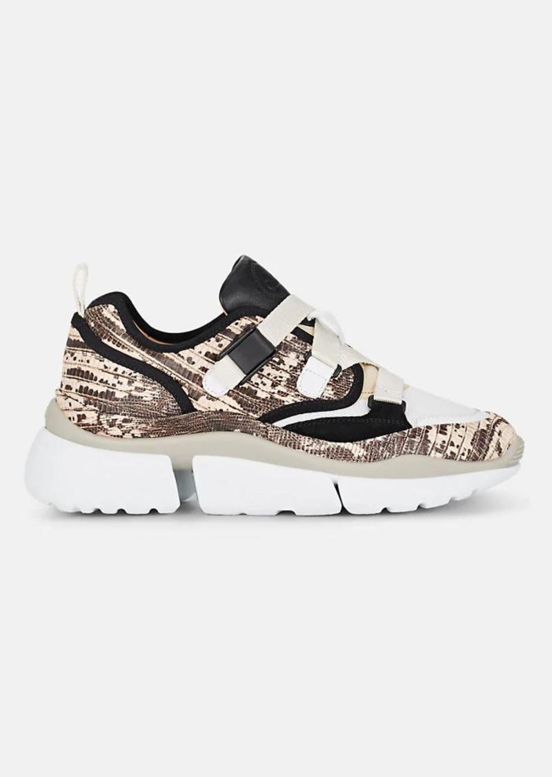 Chloé Women's Sonnie Crisscross-Strap Sneakers