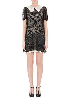 Chloé Women's Star-Embroidered Silk Shirtdress
