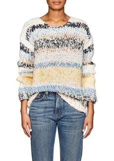 Chloé Women's Striped Cotton-Blend Relaxed Sweater