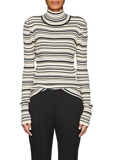 Chloé Women's Striped Cotton-Blend Turtleneck Sweater