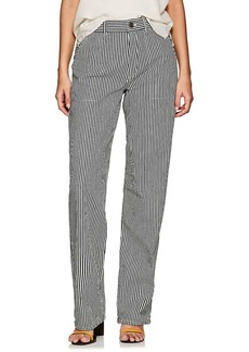 Chloé Women's Striped Cotton Wide-Leg Trousers