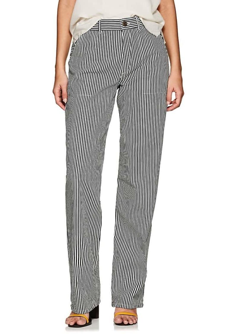 Chloé Women's Striped Cotton Wide-Leg Trousers