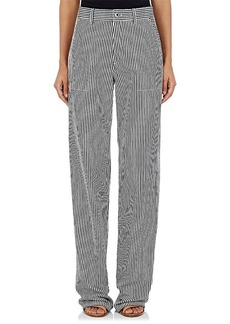 Chloé Women's Striped Denim Wide-Leg Trousers