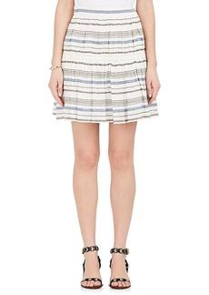 Chloé Women's Striped Linen-Cotton Gauze Miniskirt