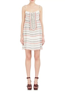 Chloé Women's Striped Linen-Cotton Gauze Sundress
