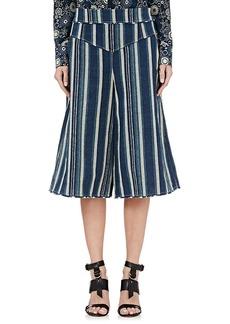 Chloé Women's Striped Rustic-Weave Culottes