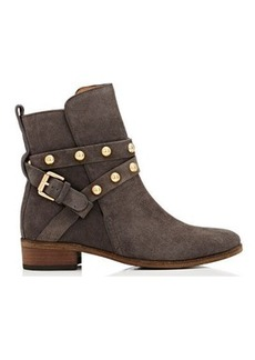 See by Chloé See by Chloe Women's Studded-Strap Suede Ankle Boots