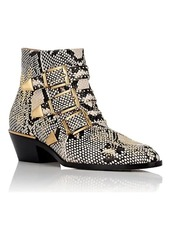 Chloé Women's Susanna Stamped Leather Ankle Boots