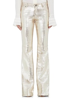 Chloé Women's Textured Leather Wide-Leg Pants