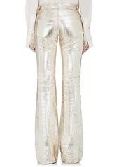 Chloé Women's Textured Leather Wide-Leg Pants