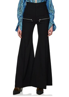 Chloé Women's Virgin Wool Multi-Zip Flared Pants