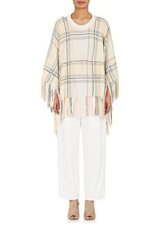 Chloé Women's Wool-Cashmere Fringed Poncho