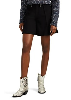 Chloé Women's Zip-Detailed Wool Shorts