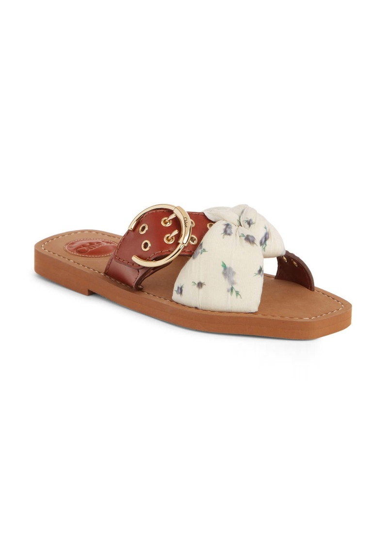 Chloé Woody Buckle Slide Sandal (Women)