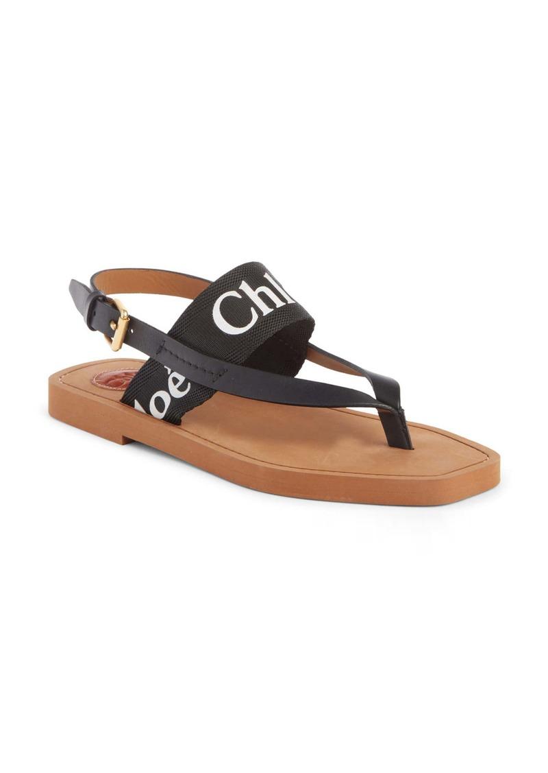 Chloé Woody Logo Sandal (Women)