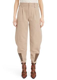 Chloé Wool & Cotton Blend Jodhpur Pants