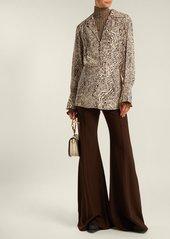 Chloé Wool-blend flared trousers