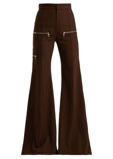 Chloé Wool-blend flared trousers